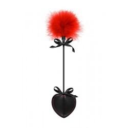 Coeur Cravache et Plume Noire & Rouge