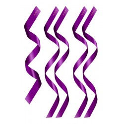 5 Bandeaux Satin Violet