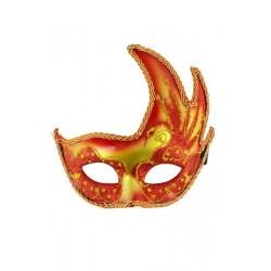 Masque Bohème Rouge Jaune
