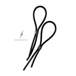 2 Bagues anneaux pénis réglables électro stimulation