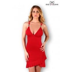 Robe rouge bretelles croisées et dos nu