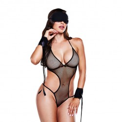 Love Slave Set Fishnet Black - One Size