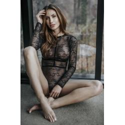 Body sexy en dentelle Noir Handmade