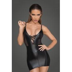 Mini robe Powerwetlook tulle et coupe corset