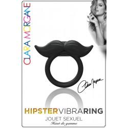 Hipster Vibra Ring noir moustache