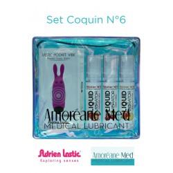 Set Coquin Mini vibro et 3 lub vibrator N°6