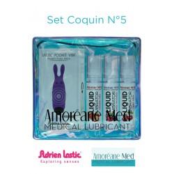 Set Coquin Mini vibro et 3 lub vibrator N°5