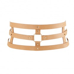 MAZE WIDE BELT BROWN