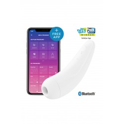 Curvy 2+ Connecté Androide Stimulateur clitoris par air pulsé vibrations blanc