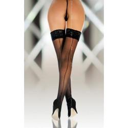 Bas Couture voile Noir Auto Fixant jarretière dentelle