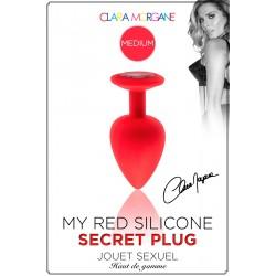My Red Silicone Secret Plug Medium