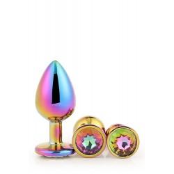 Boite 3 Gleaming Love Bijou Plug irisé multicolore 21784 S-M-L