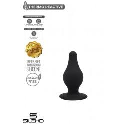 """Plug NOIR """"Thermo Réactive"""" Model 2-XS (L6.4 x Ø2,5cm)"""