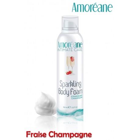 Sparkling Body Mousse crépitante massage Strawberry Champagne