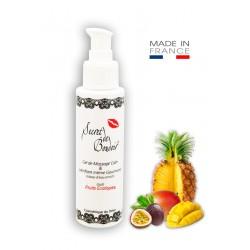 Gel de Massage Lubrifiant Gourmand Fruits Exotiques