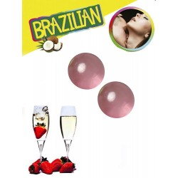 Boules Brésiliennes Aromatisées Vin Pétillant Fraise X2